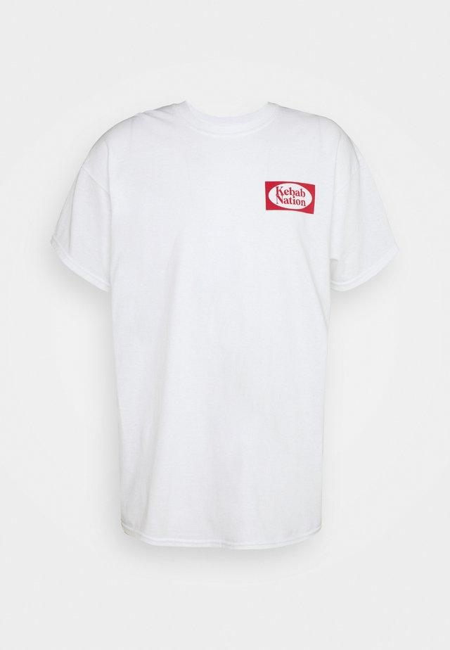 KEBAB NATION  - T-shirt con stampa - white