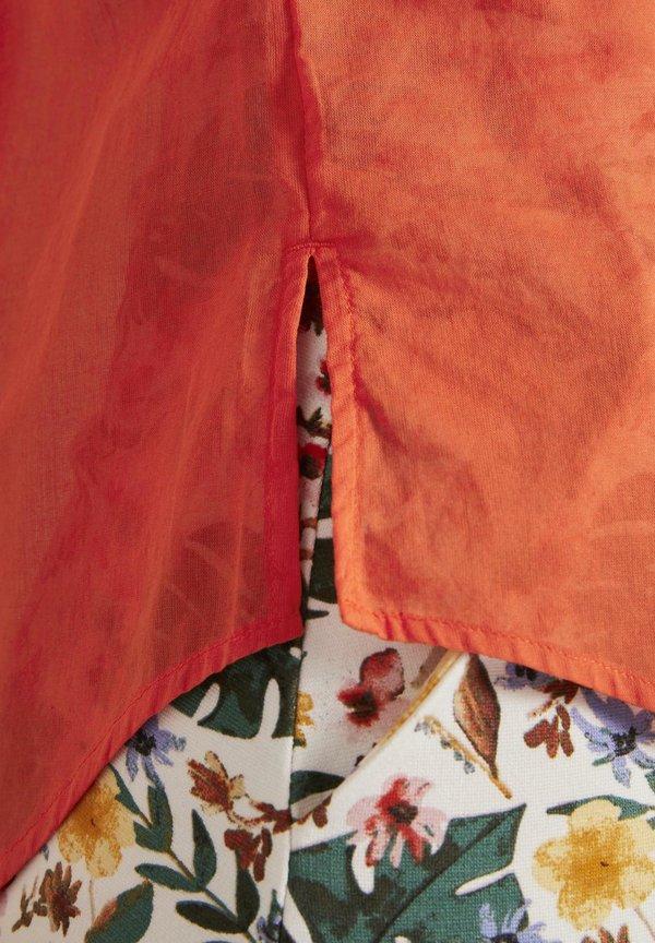 TOM TAILOR MIT SEITENSCHLITZEN - Bluzka - strong flame orange/ciemnoczerwony LBTU