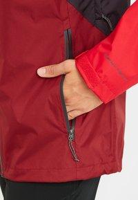 Columbia - RAIN SCAPE - Waterproof jacket - dark purple, mtn red, red jasper, shark - 5