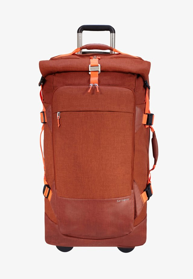 ZIPROLL - Wheeled suitcase - burnt orange
