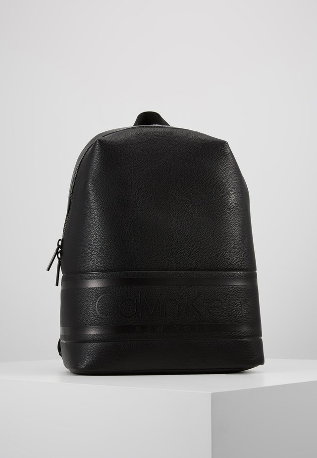 LOGO ROUND BACKPACK - Reppu - black