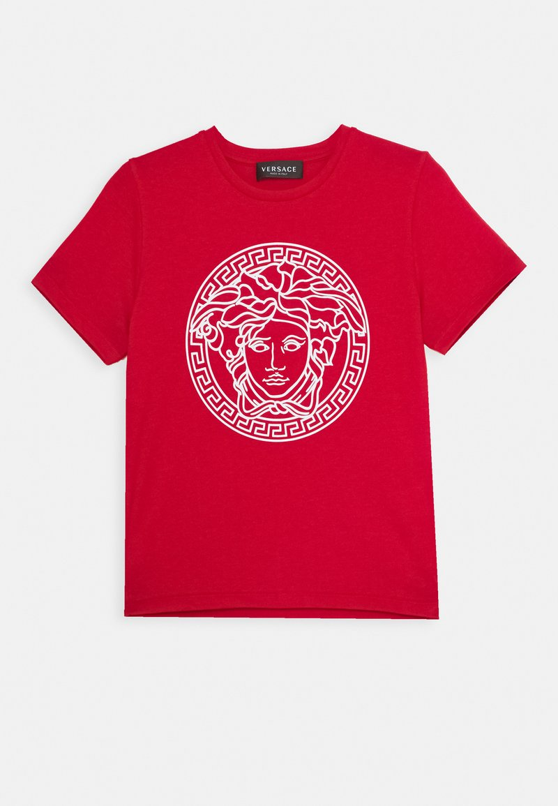 Versace - MAGLIETTA MANICA CORTA UNISEX - Print T-shirt - rosso