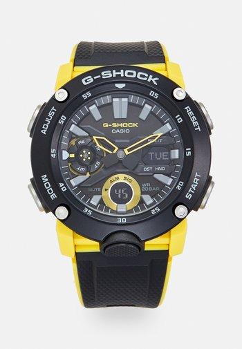 Chronograph watch - black/yellow