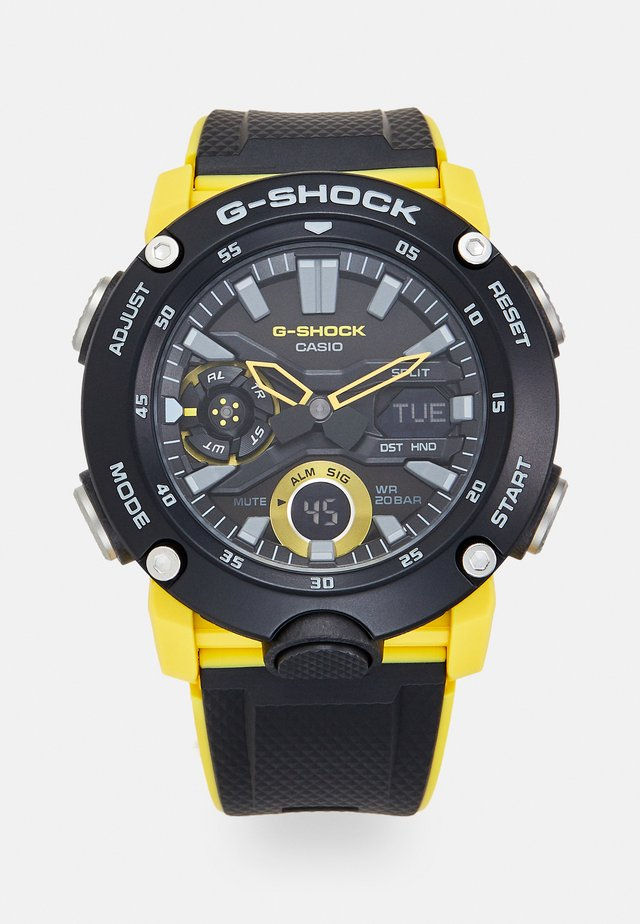 Chronograph watch - black/yellow