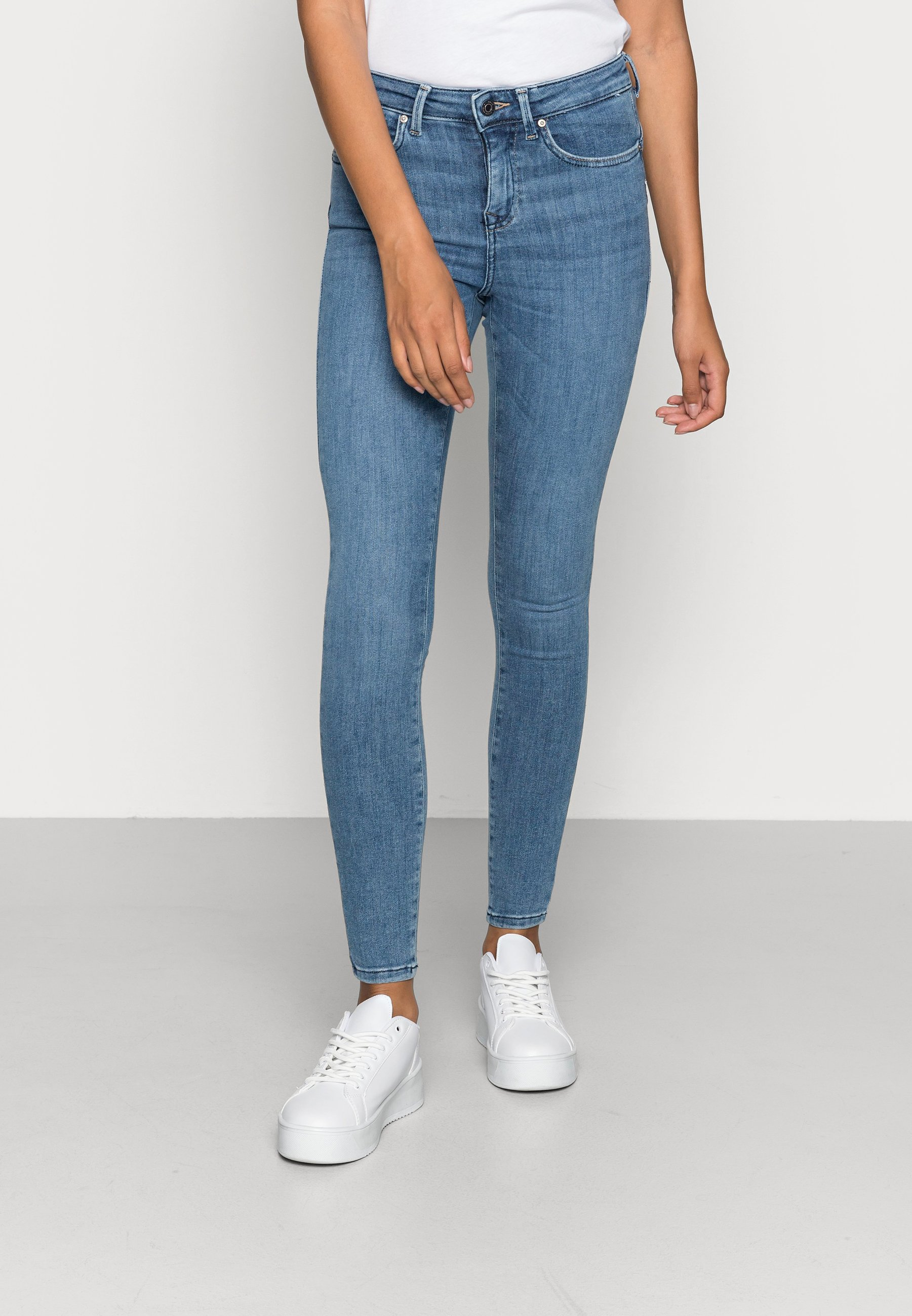 Damen ONLPOWER MID PUSH UP - Jeans Skinny Fit
