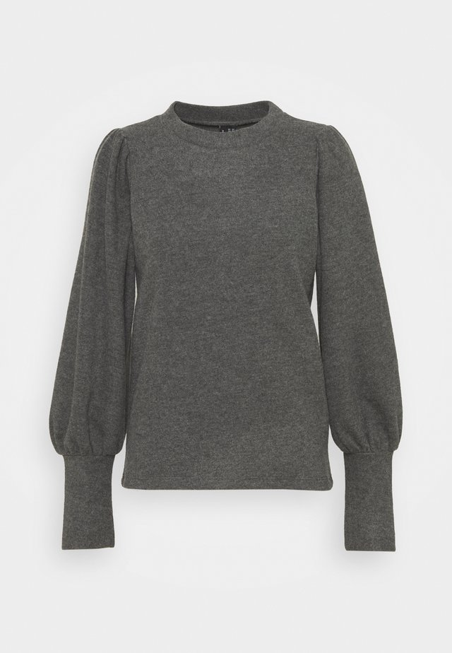 VMKINSEY PUFF - Long sleeved top - dark grey melange