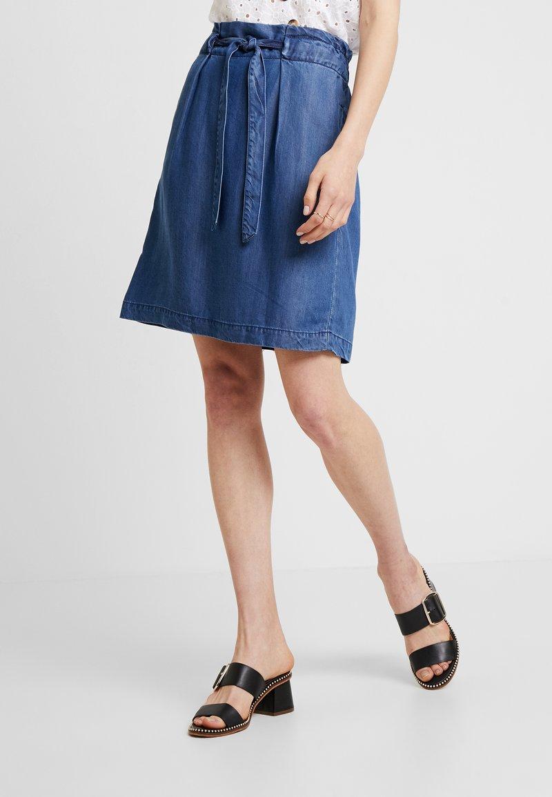 s.Oliver - A-line skirt - blue denim