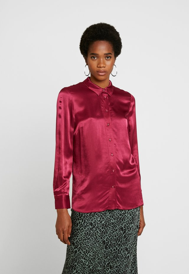 MARTHA MILITARY  - Button-down blouse - raspberry