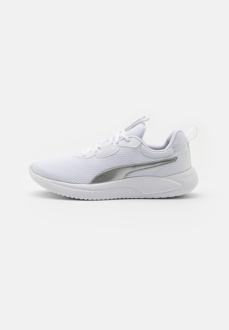 Puma - RESOLVE METALLIC - Neutral running shoes - white/metallic silver