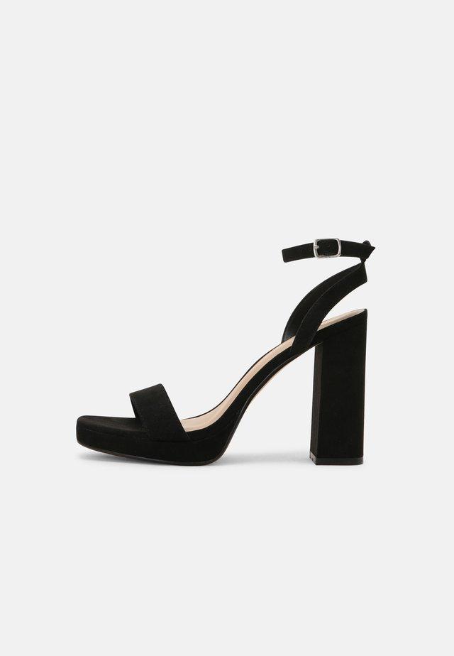 DANCERR - Sandalen met hoge hak - black