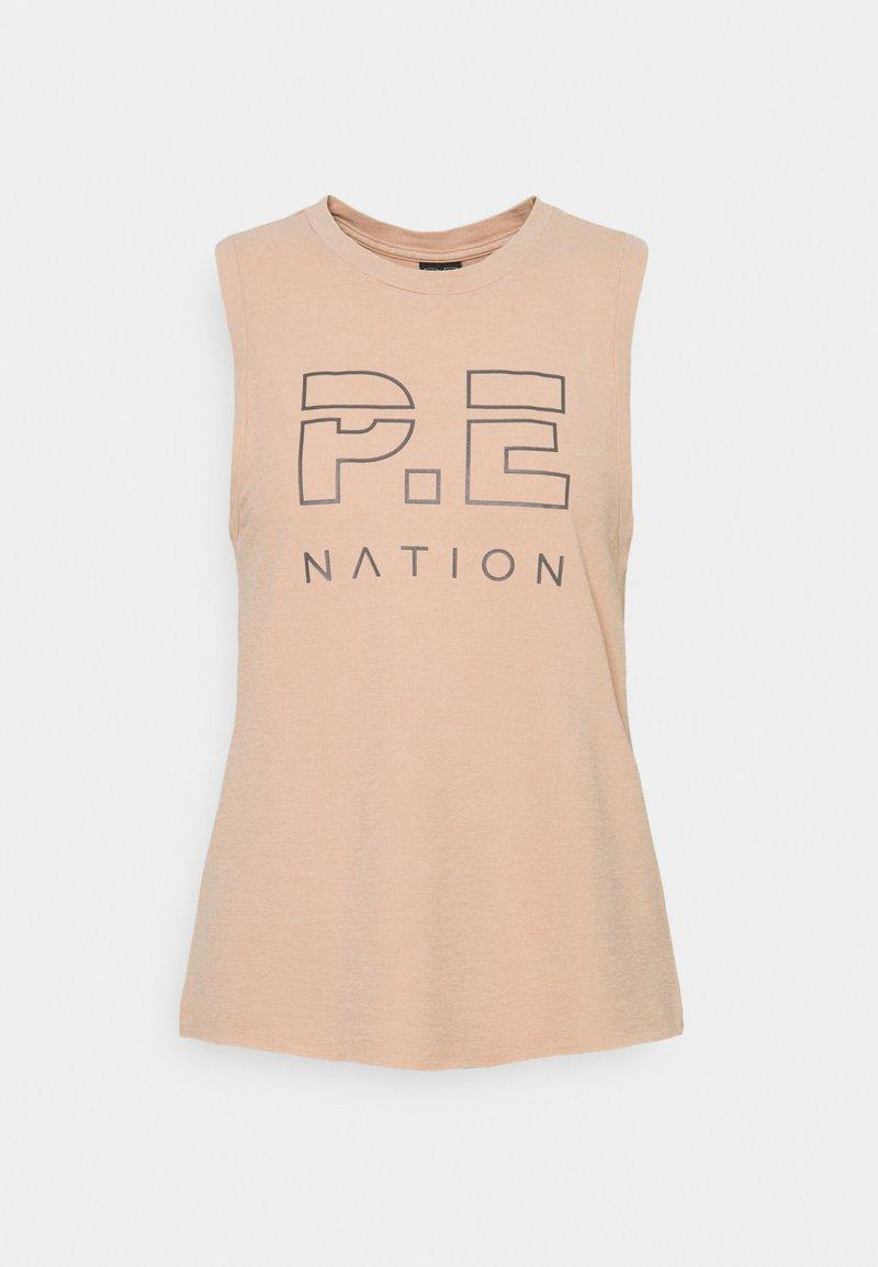 P.E Nation - HIGH TWIST SHUFFLE TANK - Top - nude