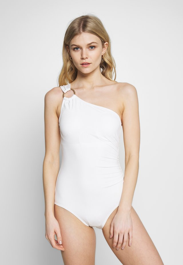 ICONIC SOLIDS ONE SHOULDER ONE PIECE - Swimsuit - white