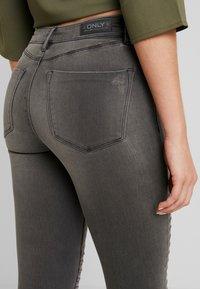 ONLY - ONLROYAL BIKER - Jeans Skinny Fit - dark grey denim - 5