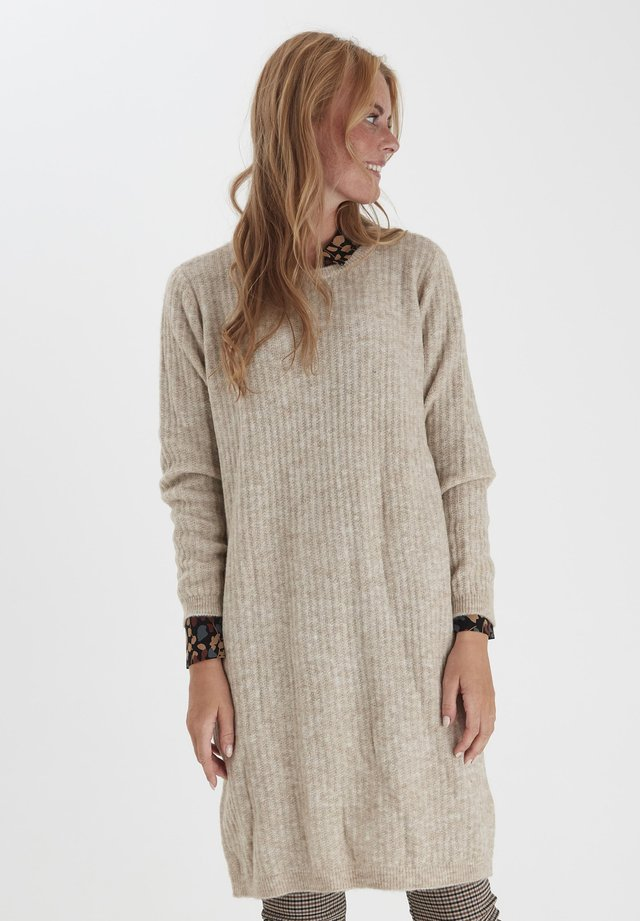 FRMESANDY - Jumper dress - beige melange