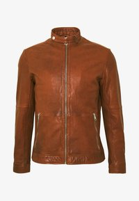 ADRON - Leather jacket - cognac