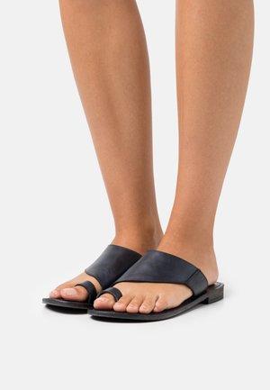 VICENTE SLIDE  - T-bar sandals - black