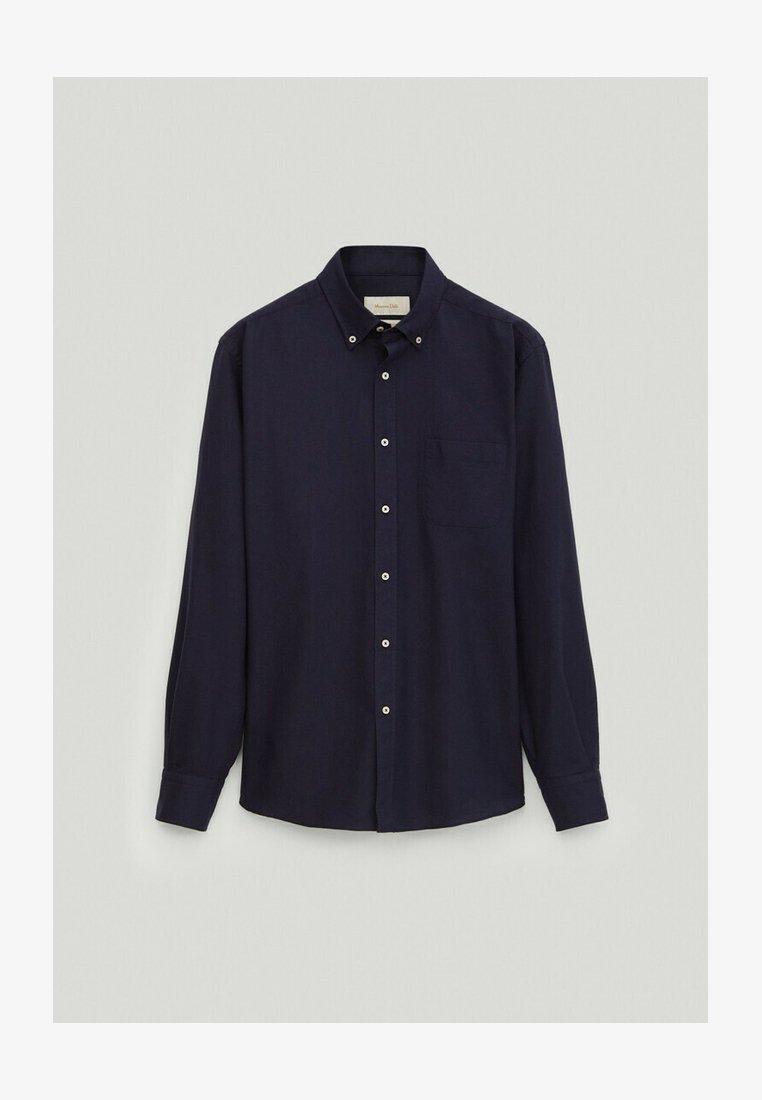 Massimo Dutti - REGULAR-FIT - Formal shirt - blue-black denim
