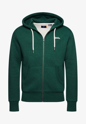 ORANGE LABEL - Zip-up hoodie - willow green grit