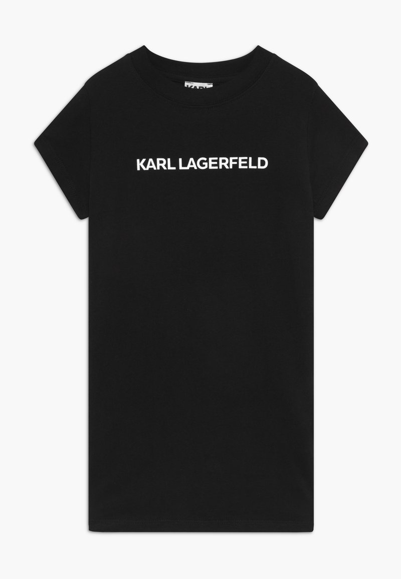 KARL LAGERFELD - SHORT SLEEVED - Žerzejové šaty - black