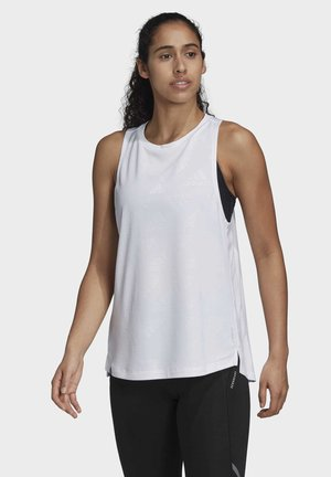 OWN THE RUN TANK TOP - Top - white
