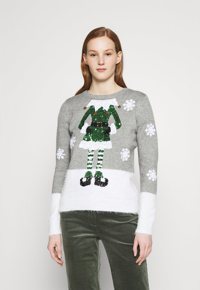 CHRISTMAS ELF - Sweter - grey
