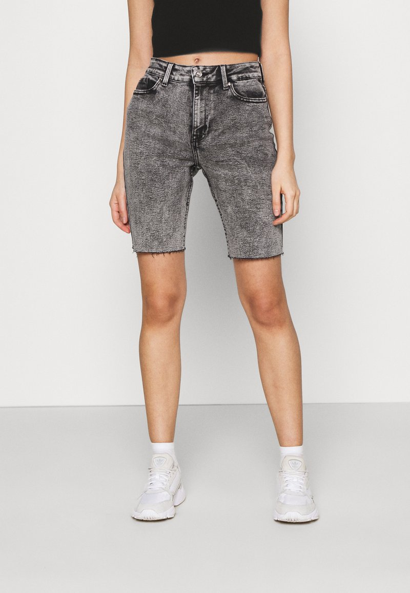 ONLY - ONLERICA LIFE MID RAW - Shorts di jeans - black denim
