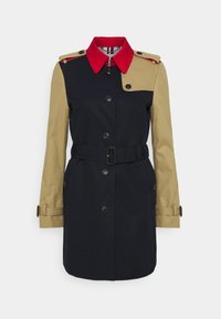 Tommy Hilfiger - TRENCH - Trenchcoat - desert sky/primary red/camel - 0