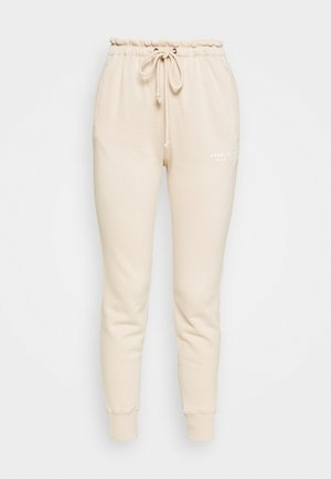 TREND LOGO WAISTED  - Tracksuit bottoms - beige