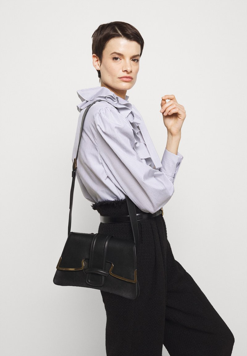 Alberta Ferretti - SHOULDER BAG MEDIUM BUCKLE - Across body bag - black