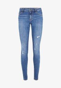 Vero Moda - VMLYDIA LOW WAIST - Jeans Skinny Fit - dark blue denim - 5