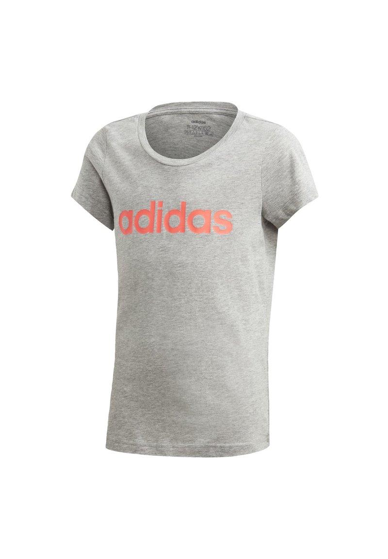 adidas Performance - ESSENTIALS LINEAR T-SHIRT - T-shirt z nadrukiem - grey