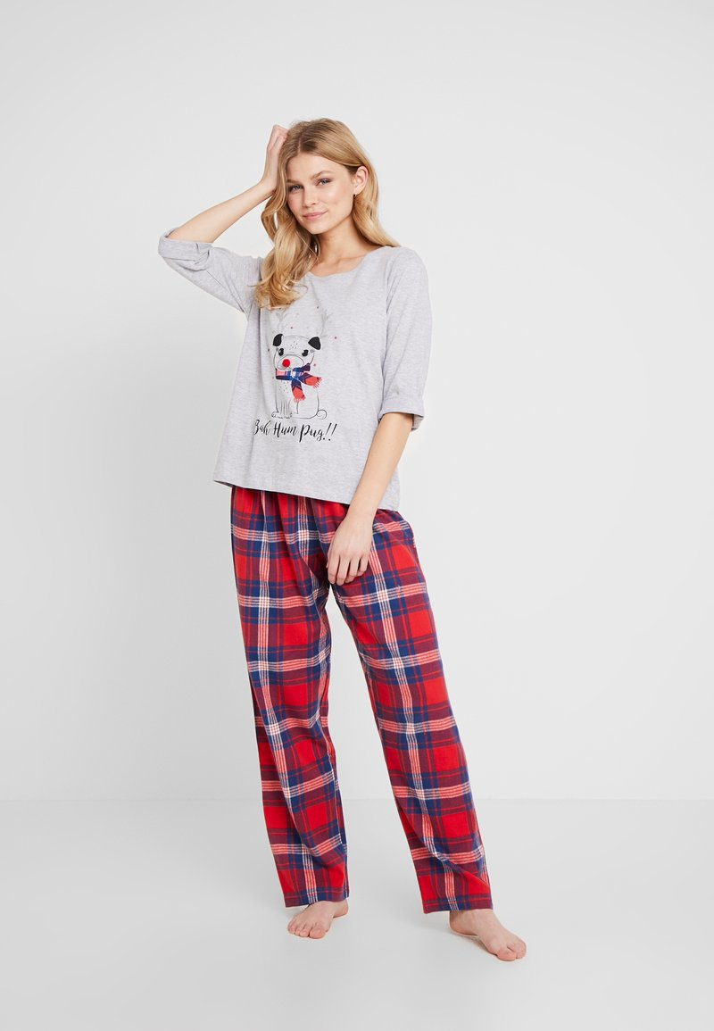 Dorothy Perkins - BAH HUM CHECK SET - Pyjamas - light grey