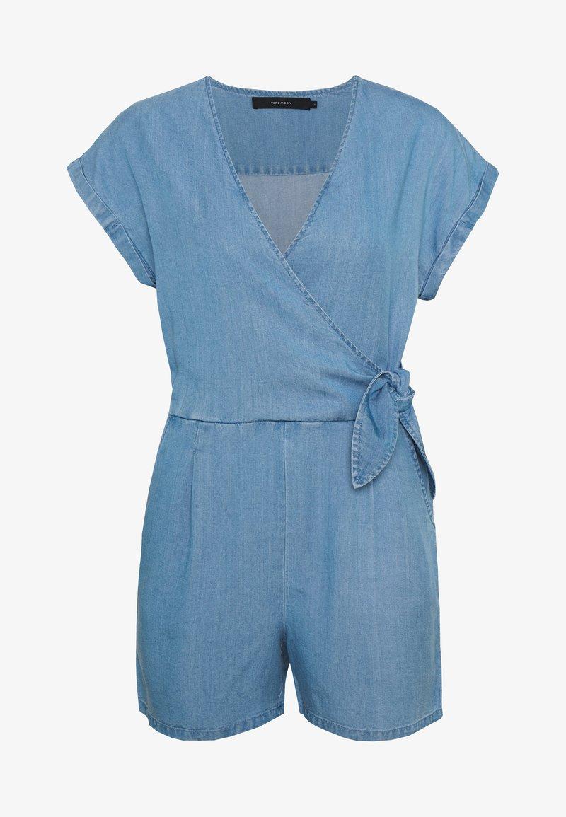 Vero Moda Petite - VMLAURA V-NECK - Combinaison - light blue denim