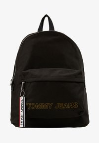 Tommy Jeans - LOGO TAPE DOME BACKPACK - Rucksack - black - 1
