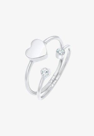 2 PACK HEART - Ring - silber