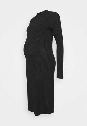 PCMDISA MOCK NECK DRESS - Jumper dress - black