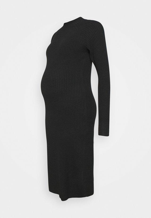 PCMDISA MOCK NECK DRESS - Neulemekko - black