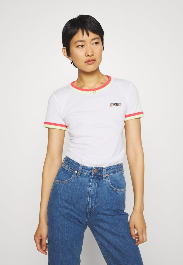 DOUBLE RINGER TEE - T-shirts med print - white