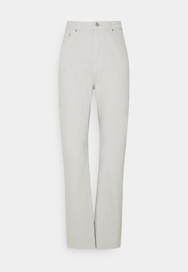 HIGH WAIST RAW HEM - Jeans relaxed fit - light grey