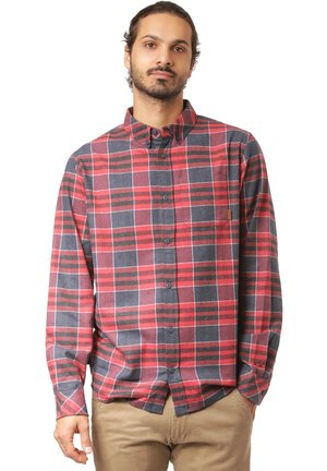 Shirt - navy / red