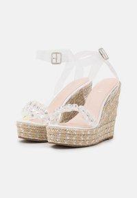 BEBO - NATALY - Platform sandals - clear - 2