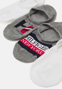 Tommy Hilfiger - MEN FOOTIE GIFTBOX 4 PACK - Calzini - grey/white - 1