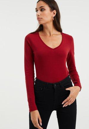 V-hals - Long sleeved top - vintage red