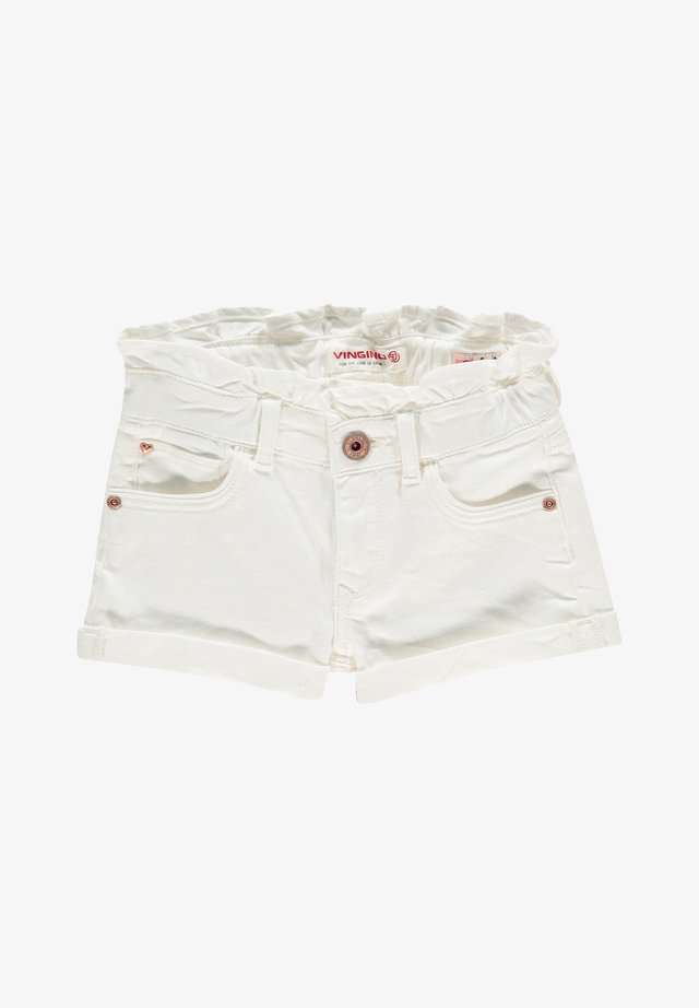 Jeans Shorts - white denim