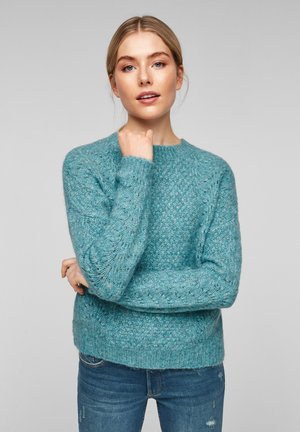 Jumper - dusty jade knit