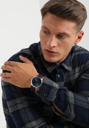 Watch - dark brown/blue