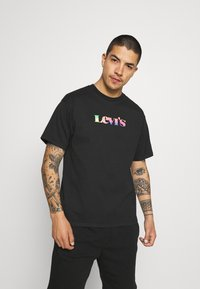 Levi's® - PRIDE VINTAGE FIT GRAPHIC TEE UNISEX - Print T-shirt - caviar - 0