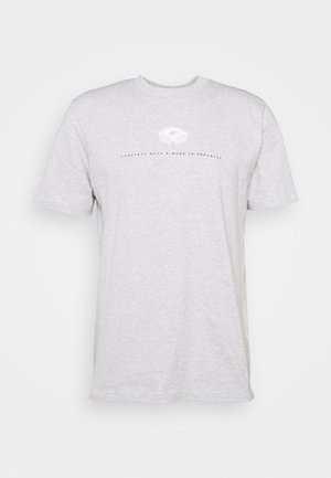 DATA - T-shirt med print - ash heather