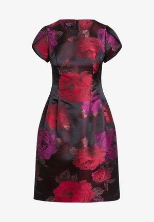 JAQUARD - Day dress - bordeaux-multicolor