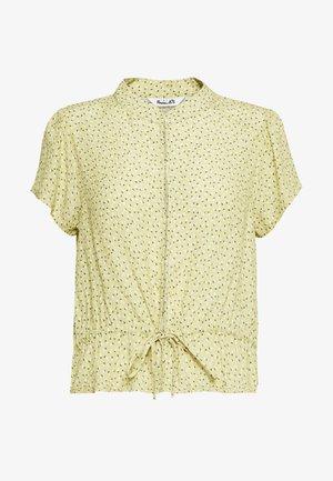ELLA MINI TULIPS BLOUSE - Button-down blouse - citron